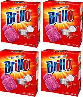 product image for Brillo Steel Wool Soap Pads, 18 Count (Pack of 4) Total 72 Pads