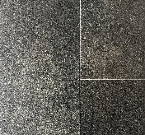 PVC-Belag verf/ügbar in der Breite 4 m /& in der L/änge 5,5 m rutschhemmend CV-Boden wird in ben/ötigter Gr/ö/ße als Meterware geliefert PVC Vinyl-Bodenbelag in edler Fliesen /& Natursteinoptik
