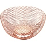 "NIFTY 7510COP Double Wall Mesh Copper Decorative and Fruit Bowl, 3.5 quart/10"","