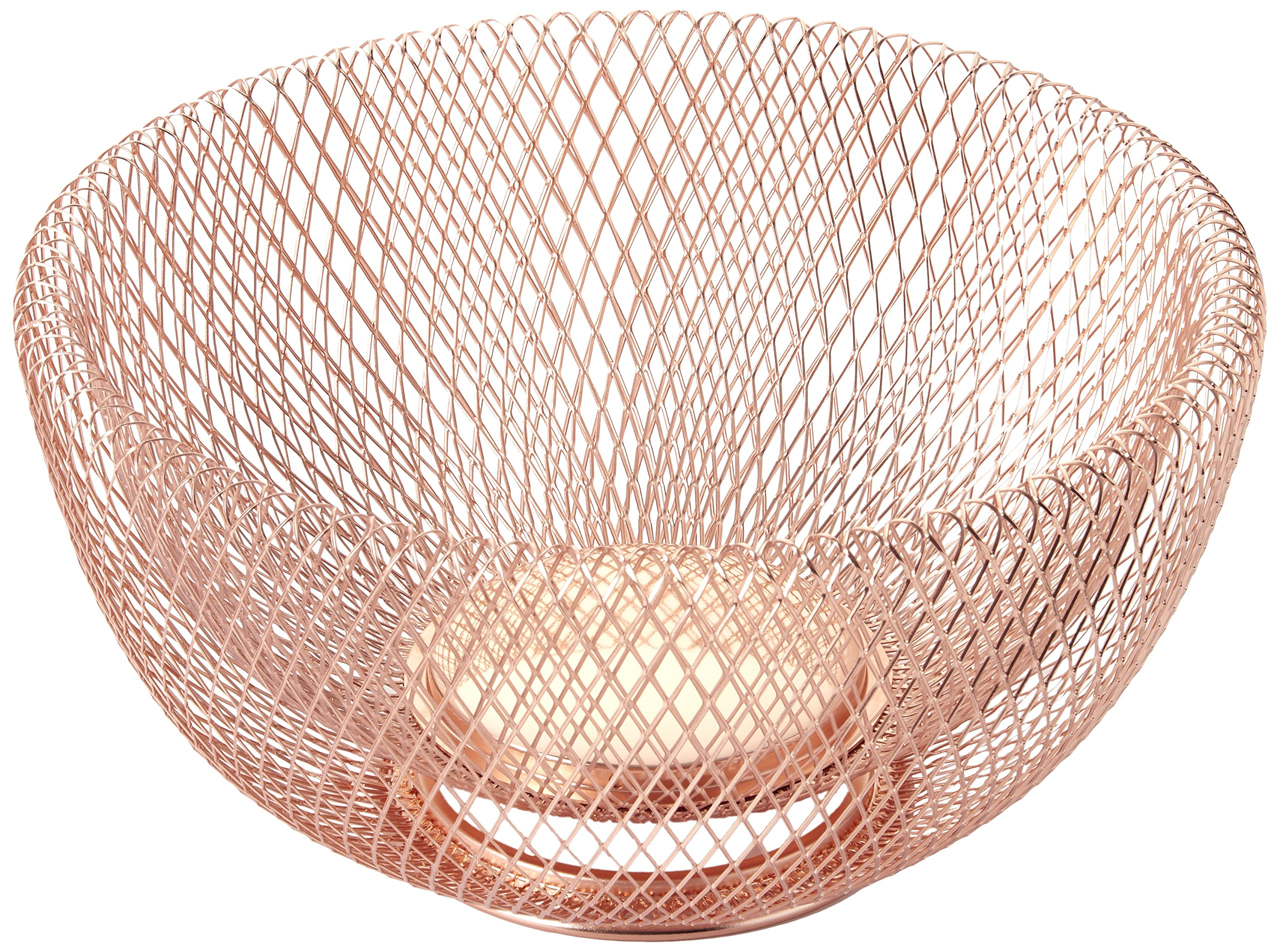 NIFTY 7510COP Double Wall Mesh Decorative and Fruit Bowl, 3.5 quart/10, Copper
