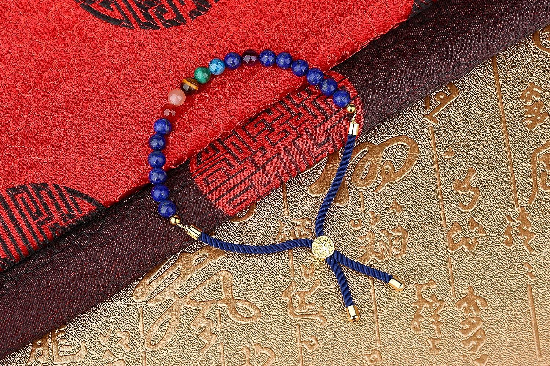 coai Bracelet Bolo Yoga Chakra Pierre Arbre de Vie Unisexe