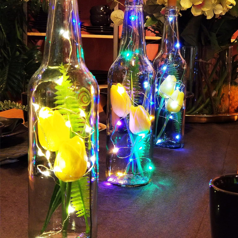 Amazoncom illumiForce Artificial Tulip Floral Bottle