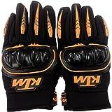 Fulgent KTMGOBL Ktm Motorcycle Riding Gloves Orange With Black Colour L Size.