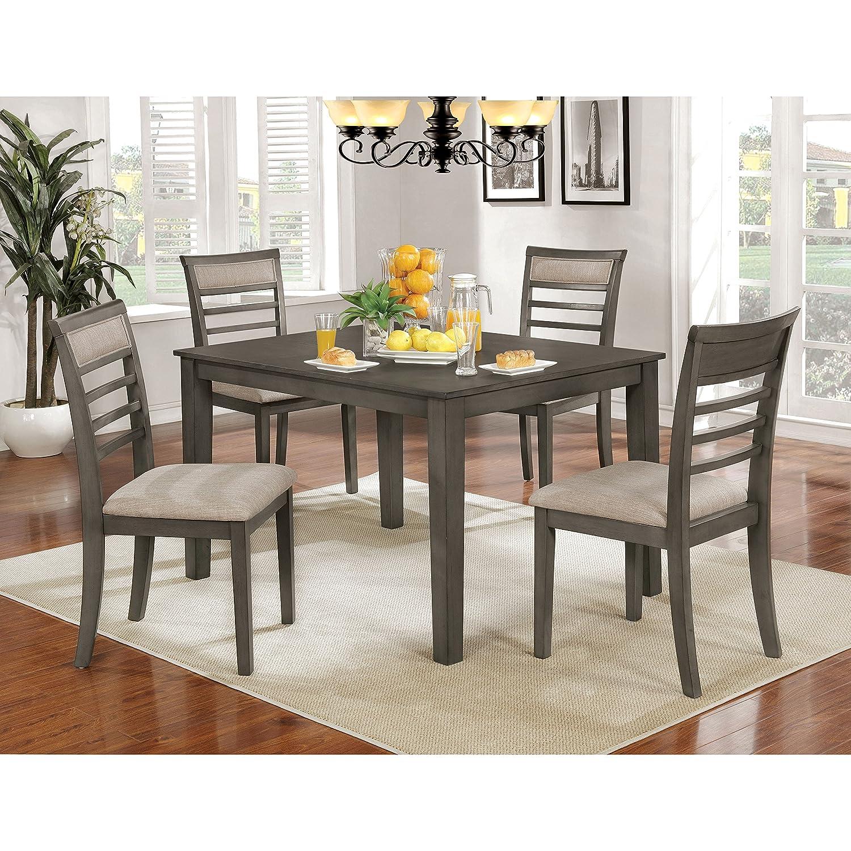 Amazon Com Furniture Of America Yevana Contemporary 5 Piece Casual