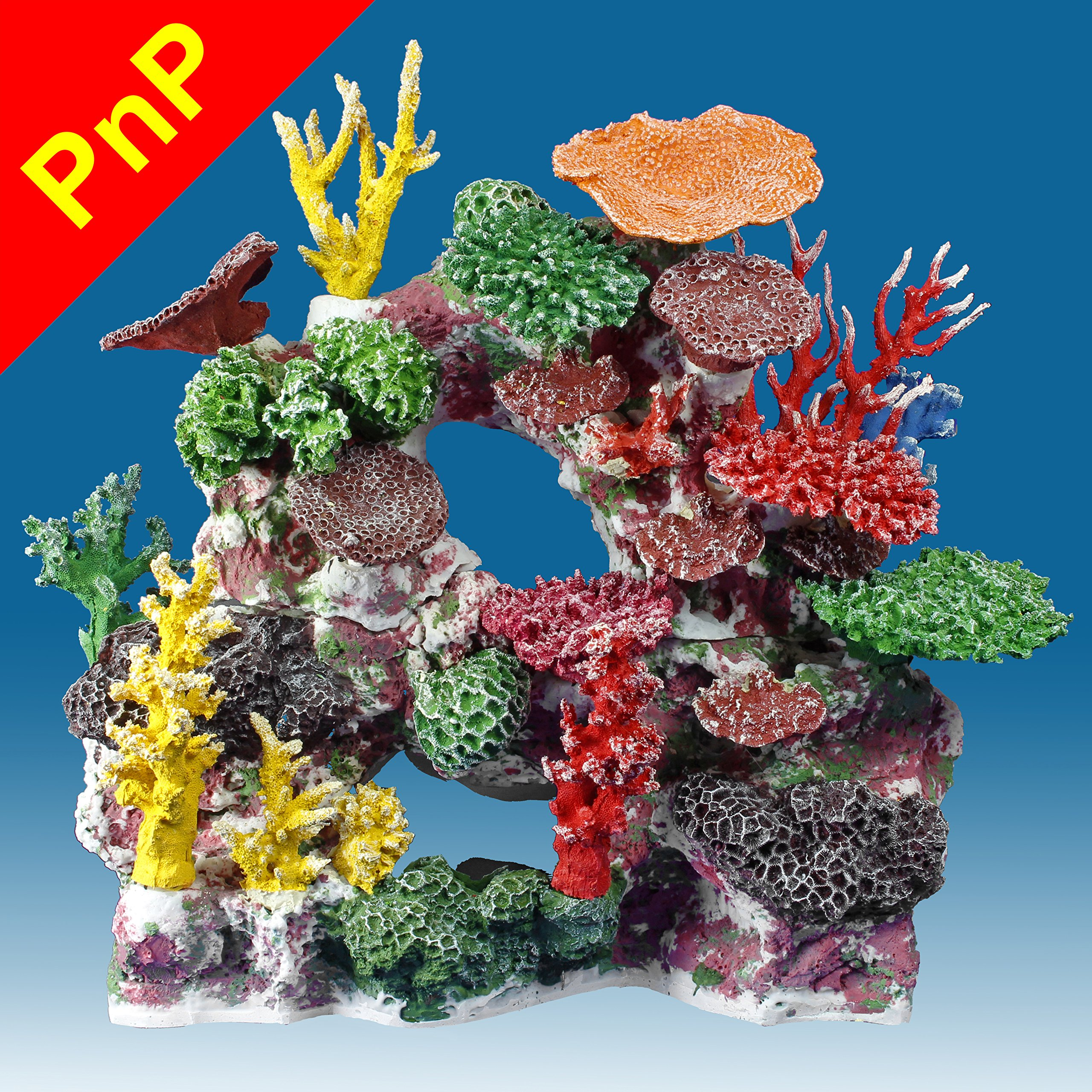 Instant Reef DM037PNP Large Artificial Coral Inserts Decor, Fake Coral Reef Decorations for Colorful Freshwater Fish Aquariums, Marine and Saltwater Fish Tanks by Instant Reef