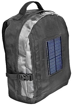 Bresser - Mochila con panel solar y batería con adaptadores para dispositivos portátiles