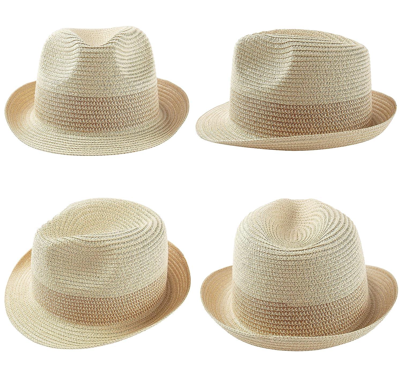 Sombrero de Paja para Hombre con Malla Transpirable Trilby Bogart Coucoland Fedora