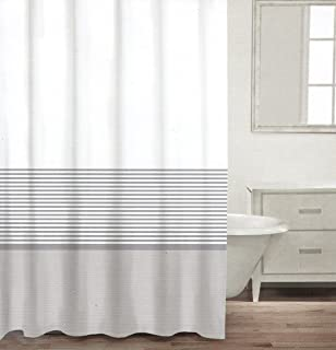 Amazoncom CARO Home Fabric Shower Curtain Wide Navy Blue White