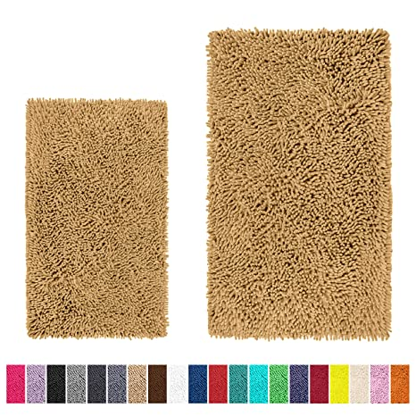 Bathroom Rug Sets Amazon.Luxurux Bathroom Rug Set Extra Soft Plush Bath Mat Shower Bathroom Rugs 1 Chenille Microfiber Material Extra Thick Super Absorbent Machine