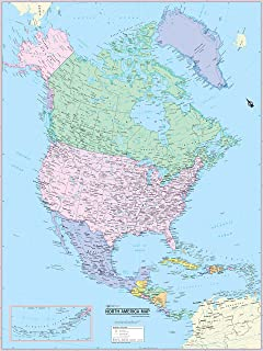 Amazoncom US Zip Code Map 36 W x 248 H Office Products
