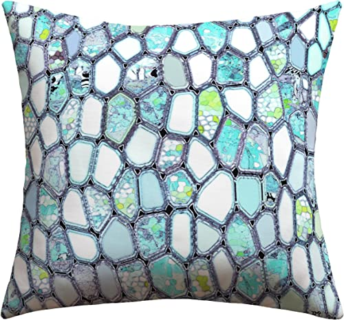 Deny Designs Ingrid Padilla Blue Cells Outdoor Throw Pillow