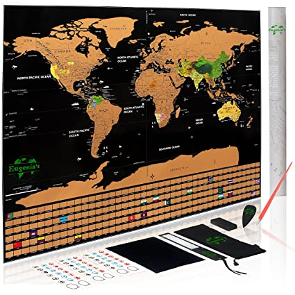 Amazon scratch world map poster detailed world map scratch scratch world map poster detailed world map scratch off world poster for modern traveler of gumiabroncs Choice Image