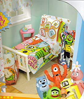 amazon com nickelodeon yo gabba gabba toddler bedding set home
