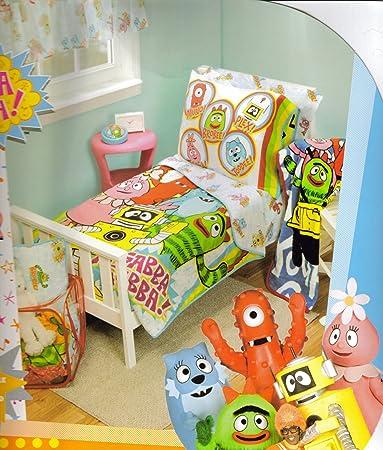 amazon com yo gabba gabba 10 piece toddler room in a bag toddler