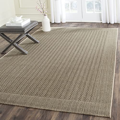 Safavieh Palm Beach Collection PAB321A Desert Sand Sisal Jute Area Rug 8' x 11'