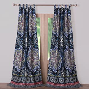 Barefoot Bungalow Twyla Midnight Window Panel Pair