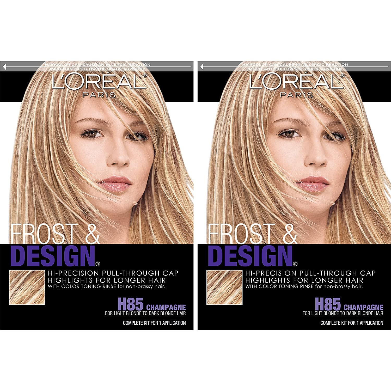 L Oreal Paris Frost And Design Cap Hair Highlights For Long Hair Champagne 2 Count