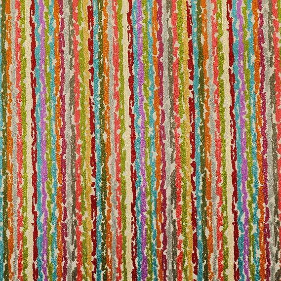 Funky à rayures multicolores recouvert de tissu 140 cm D2038