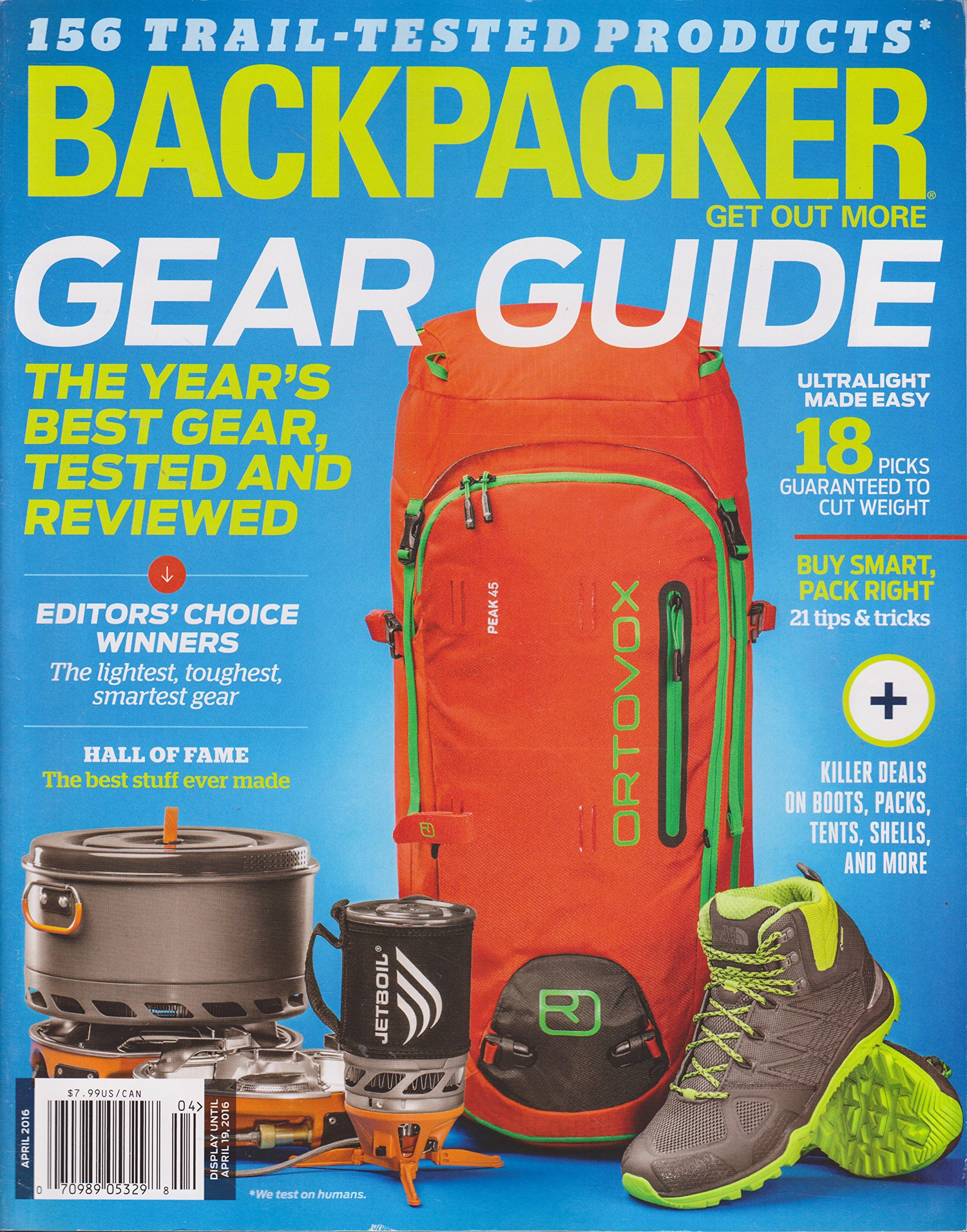 Backpacker Magazine April 2016 ebook