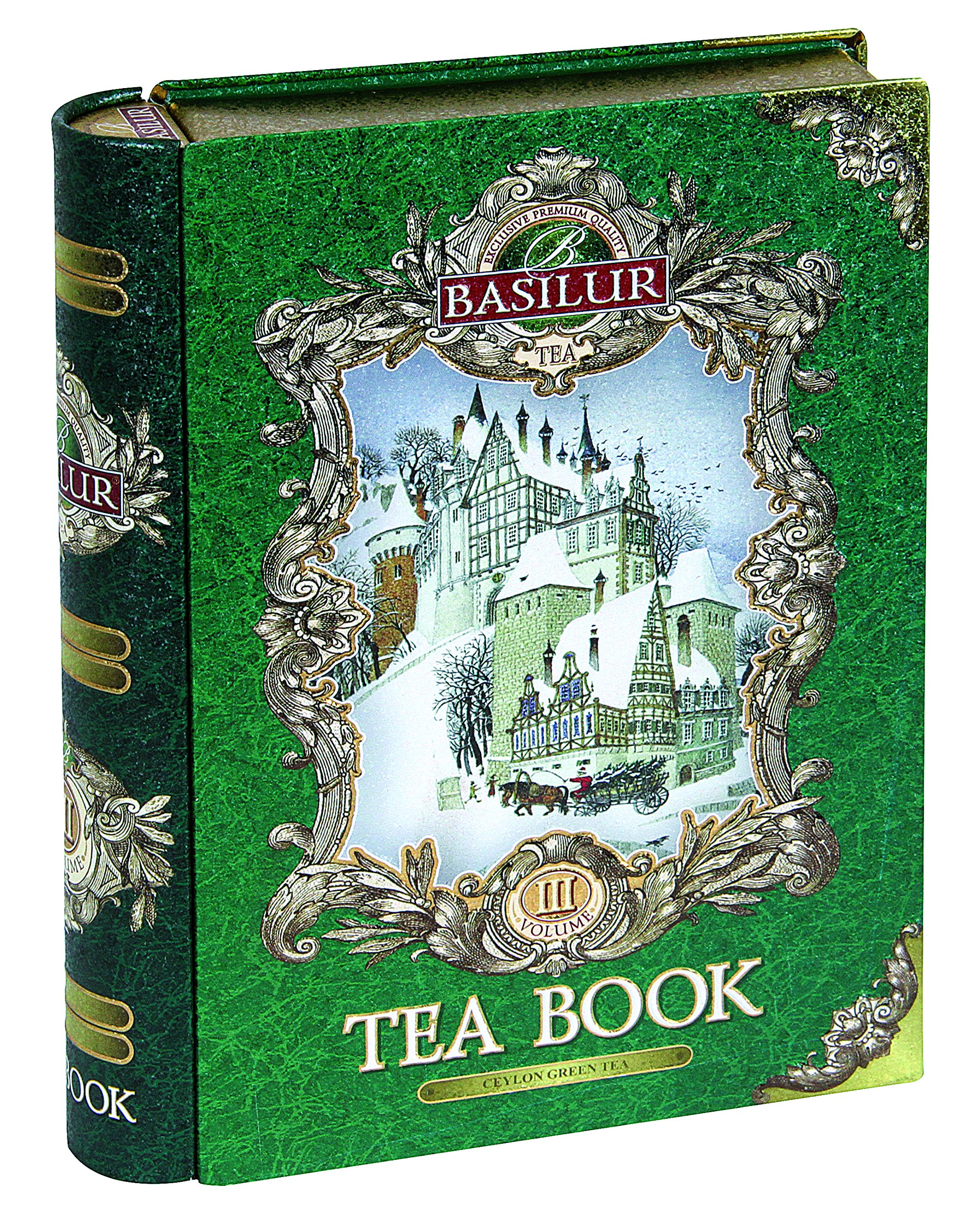 Basilur Gift Tea Set ''Tea Book # 3'' /Thin metal 100
