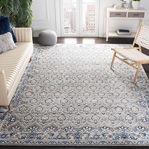Safavieh Brentwood Collection BNT869G Oriental Distressed Non-Shedding Stain Resistant Living Room Bedroom Area Rug