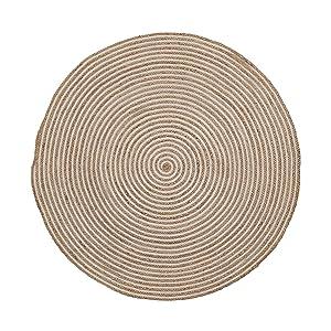Kave Home Tapis Saht 100 cm, Naturel et Blanc