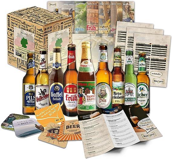 Las mejores cervezas alemanas como set de regalo de cerveza, regalo de cumpleaños para papá, idea de regalo de cumpleaños para hombres o ideas de regalos especiales (9 mejores cervezas): Amazon.es: Alimentación