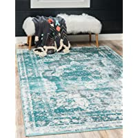Unique Loom Sofia Collection Traditional Vintage Turquoise Area Rug (9' x 12')