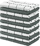 Utopia Towels Kitchen Towels, 15 x 25 Inches, 100% Ring Spun Cotton Super Soft and Absorbent Grey Dish Towels, Tea…