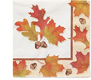 American Greetings Autumn Days Beverage Napkins, 30-Count