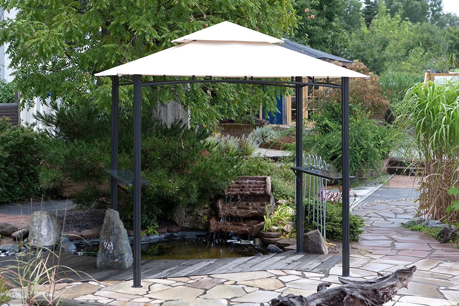 hayneedle costco lowes living ideas grill with steel bbq furniture bunnings gazebo pergola of patio full retractable gazebos clearance canopy size shades sears outdoor belham awning
