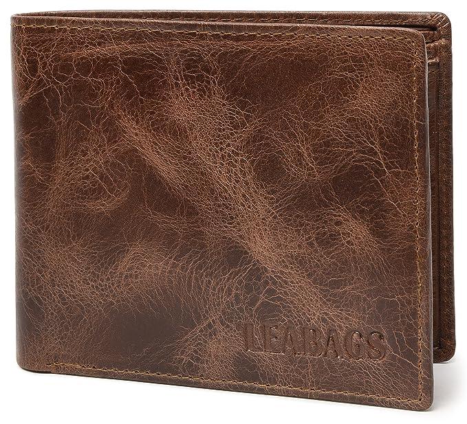 Amazon.com: LEABAGS Toledo de piel de búfalo portafolios en ...