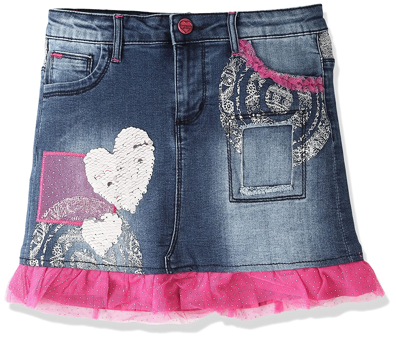 5277b6626 Desigual Girls' Denim Skirt Gargalla, Sizes 5-14 (7/8): Amazon.ca: Clothing  & Accessories