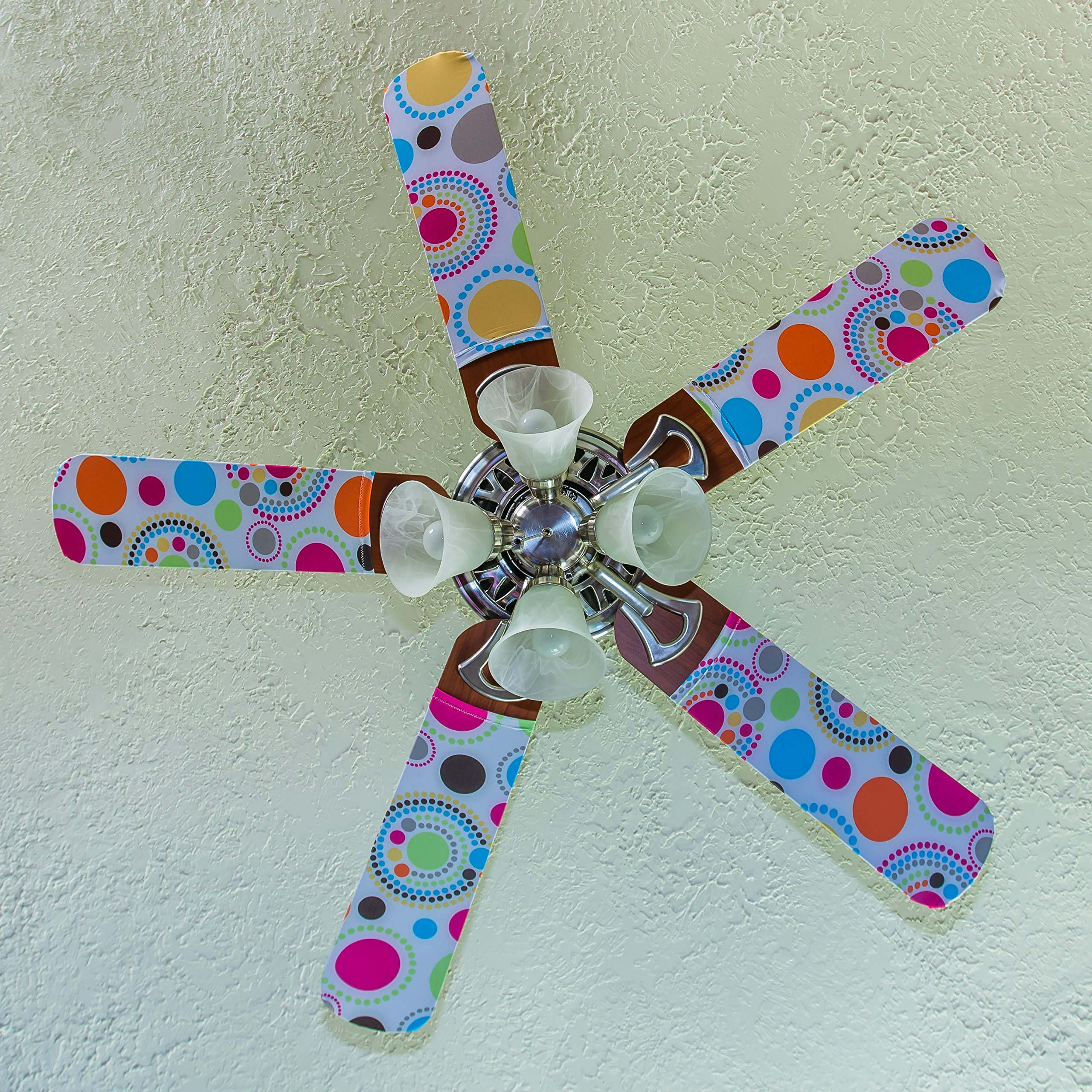 Fancy Blade Ceiling Fan Accessories Blade Cover Decoration, Polka Dot Small