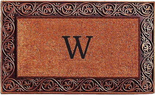 Home More 10003BRNZW Prestige Bronze Monogram Doormat Letter W