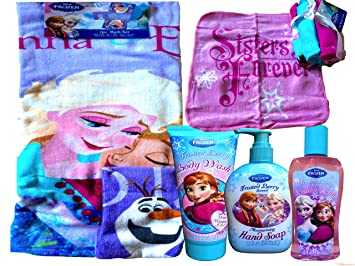 Disney Frozen toallas de baño de cristal esmerilado Berry Disney Set de baño de Frozen Disney Frozen Bubble ...