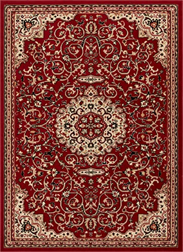 Well Woven Alexa Red Modern Medallion Area Rug Updated Traditional Persian Style 9×13 9 3 x 12 6
