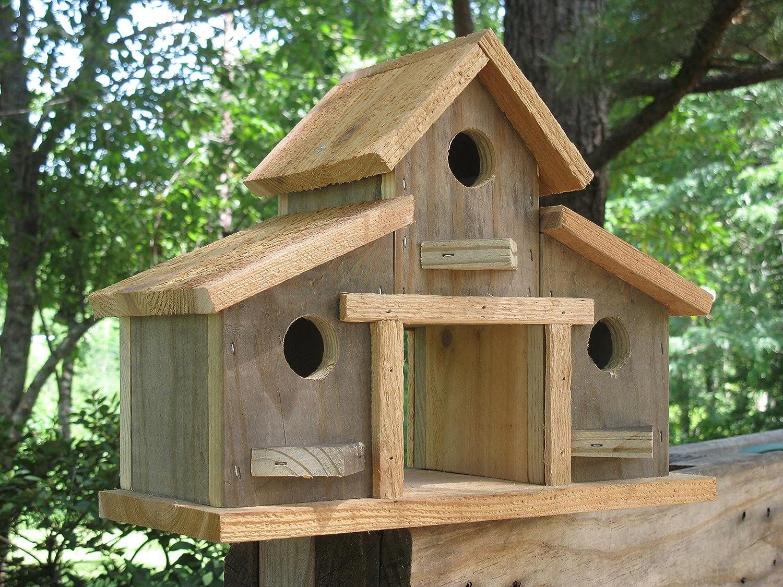 Birdhouse,Rustic Barn Birdhouse,10x13x6 Barn Birdhouse