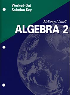Amazon mcdougal littell algebra 2 applications equations algebra 2 worked out solution key 2001 fandeluxe Image collections