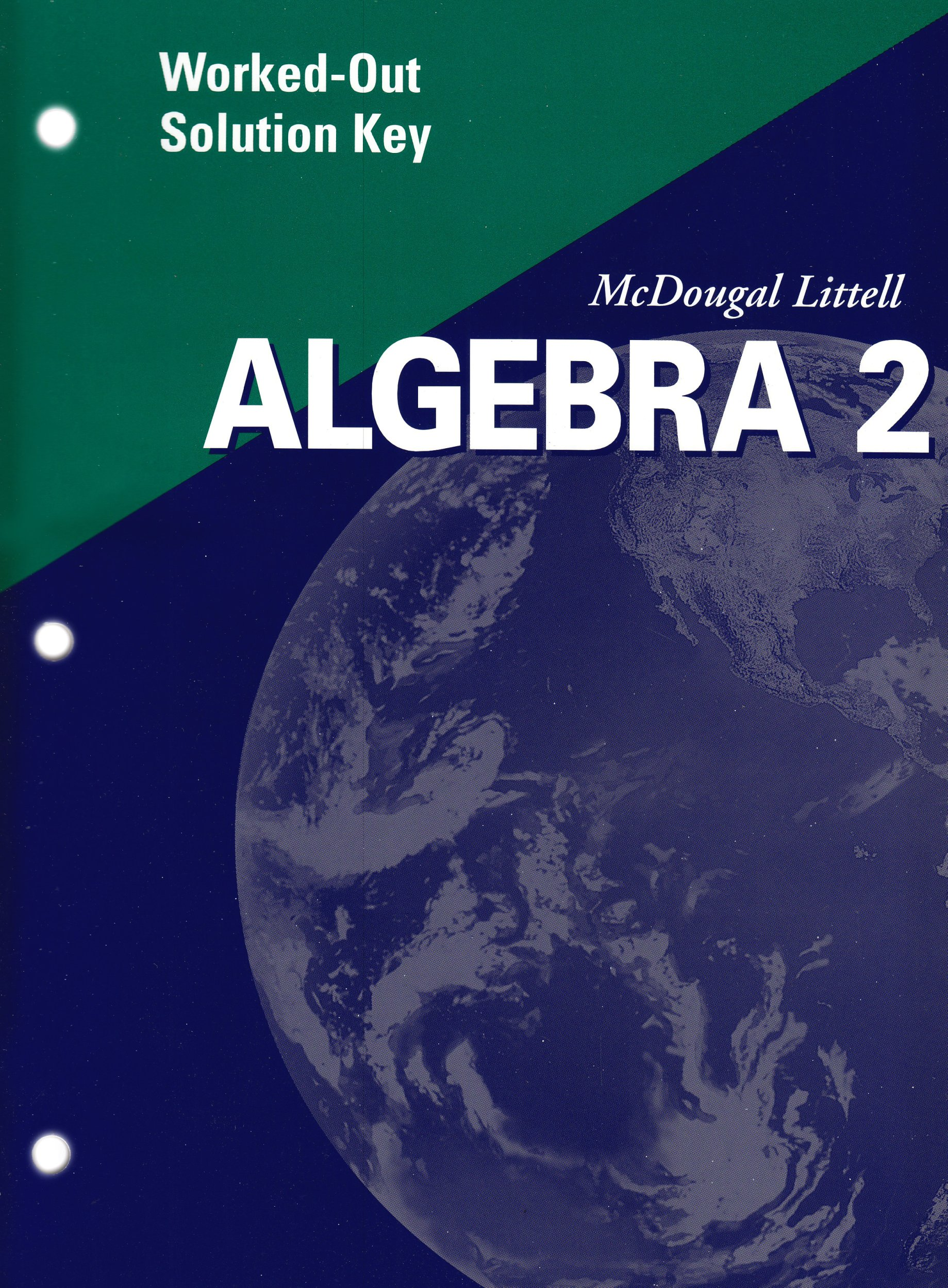 Algebra 2 Worked-Out Solution Key 2001 pdf