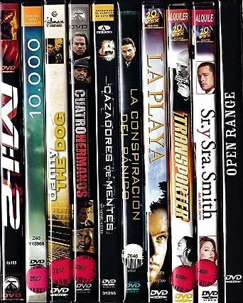 PACK 10 DVD Películas de segunda mano ACCION-AVENTURA-3: Amazon.es: Cine y Series TV