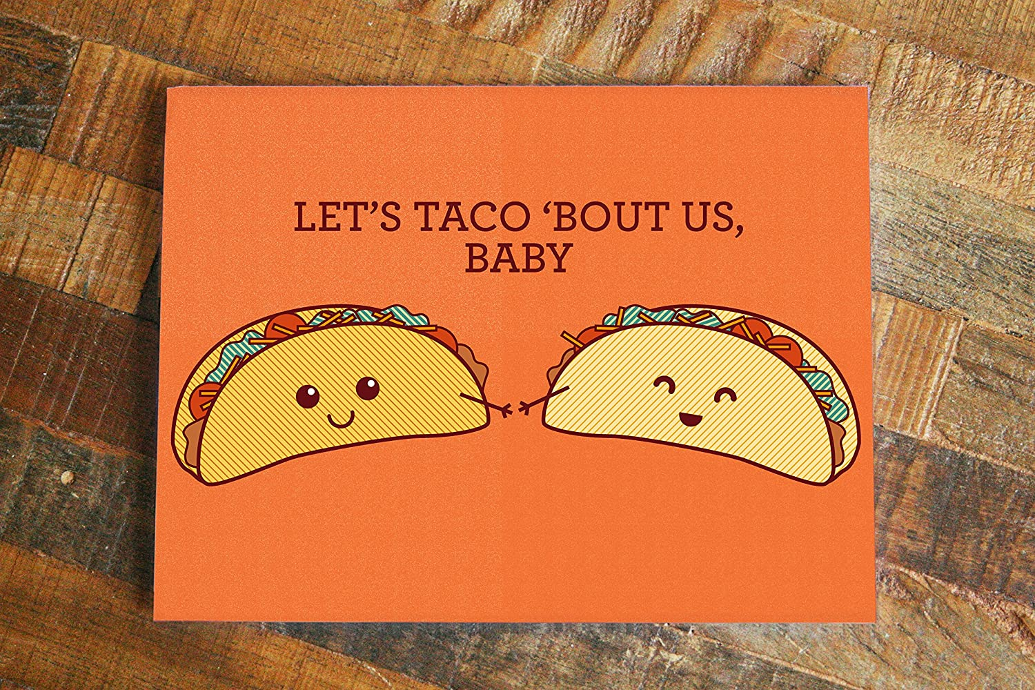 Amazon Cute Card Taco Pun Lets Taco Bout Us Baby Food Pun