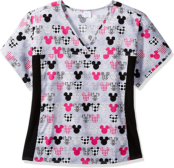 CHEROKEE PINK Hospital Carer Top Tunic Uniform 2 Pockets L XL 18//20 22//24