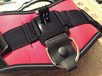 QUMOX Montura cámara arnés ajustable perro para Gopro Hero HD SJCAM SJ4000 wifi ajusta perros 15