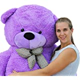 Joyfay Giant Purple Teddy Bear-6 feet tall, Big Teddy Bear is a Gentle Giant. Exactly like the Picture, this Teddy is sure to make your Holidays a Great Success.