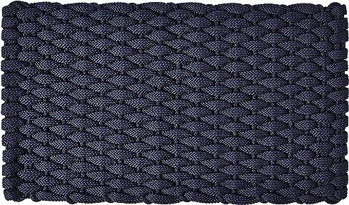 Rockport Rope Doormats 2034302 Indoor Outdoor Doormats, 20 x 34 , Navy Blue