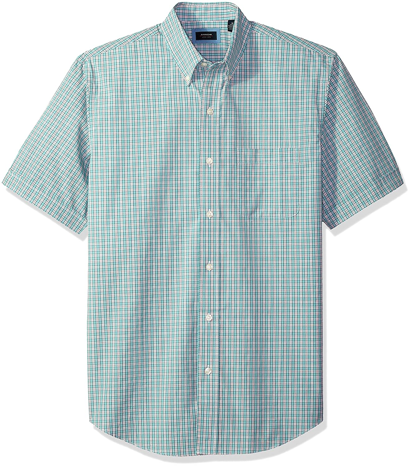 Arrow Mens Hamilton Plaid Short Sleeve Shirt Arrow Men's Tops