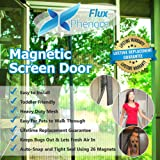 Flux Phenom Reinforced Magnetic Screen Door, Fits Door Up To 38 x 82-Inch