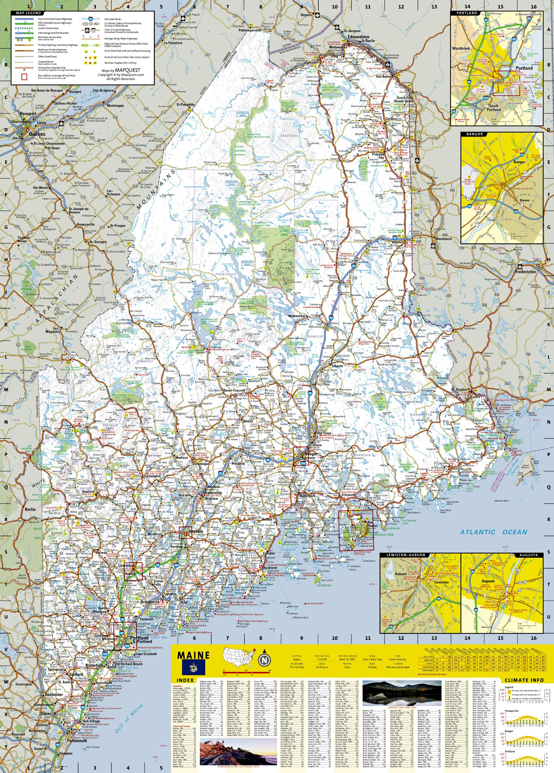 Maine National Geographic Guide Map National Geographic Maps