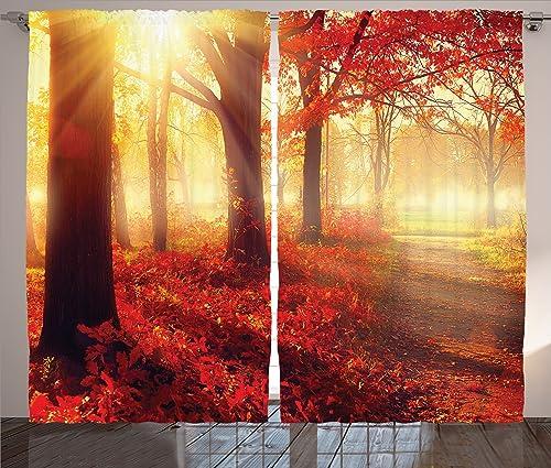 Ambesonne Woodland Curtain